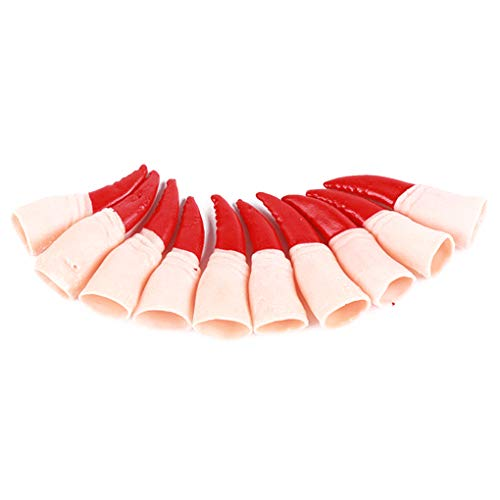 (10pcs Spooky Scary Fake Fingers Witch Nail Covers Set Halloween Party Costume Cosplay)