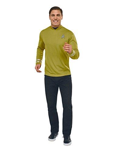 Rubie's Costume Co Star Trek: Beyond Captain Kirk Deluxe Costume Shirt, Gold, X-Large