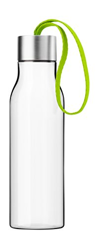 Eva Solo Drinking Bottle, 0.5-liter, Clear with Lime Strap