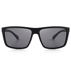 MERRY'S Men Polarized Sunglasses Male Women Outdoor Fishing Sun glasses (Matte Black, 58)