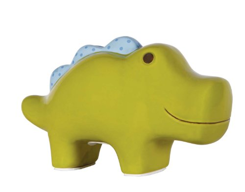 C.R. Gibson Ceramic Bank, By Jill McDonald, Painted Ceramic Coin Bank For Baby, Nursery Décor, Perfect Gift, Measures 7.75