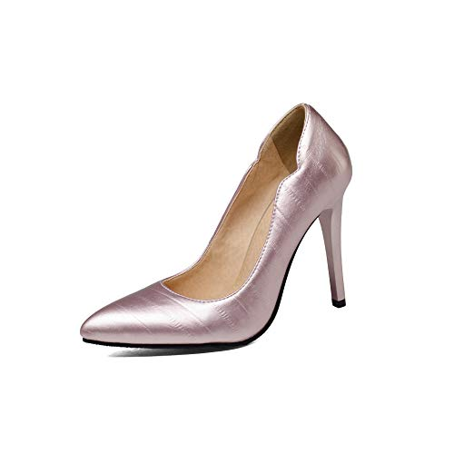 Mouth Women's Pointed Toe High Shallow Shoes Heels Stiletto zqzYAF8