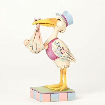 Jim Shore Special Occasions Miniature Stork with Baby Figurine 4039481 New -