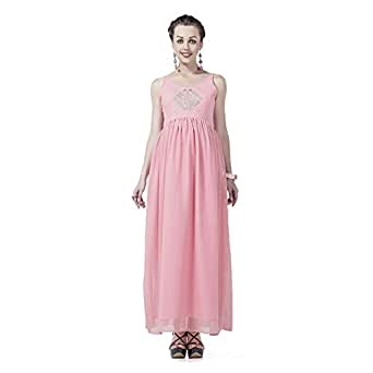 House of Napius Stylish Pink Maternity Gown, Large