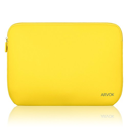 ARVOK 13-14 Inch Laptop Sleeve Multi-Color & Size Choices Case/Water-Resistant Neoprene Notebook Computer Pocket Tablet Carrying Bag Cover, Yellow