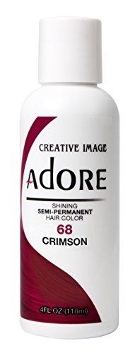 Adore Semi-Permanent Haircolor #068 Crimson 4 Ounce