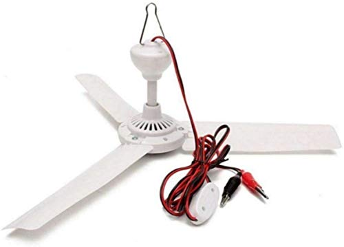 Portable DC 12V Ceiling Fan With Switch Outdoor Camping Fan For RV tent fan solar power fan