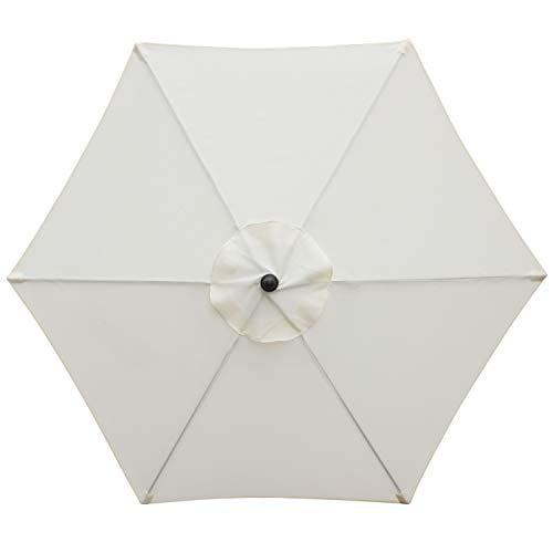 Blissun 7.5 ft Patio Umbrella, Yard Umbrella with Push Button Tilt and Crank Beige
