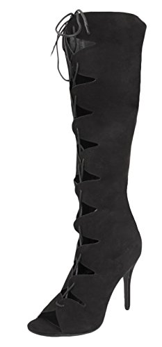Lora Dora Womens Knee High Boots Black aknb4dtJ