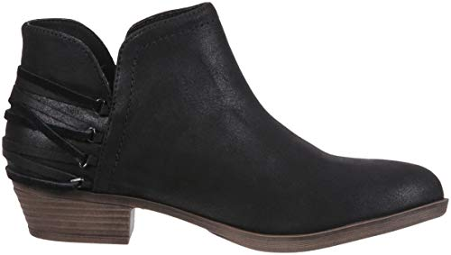 Ankle Side Tassle Decorative Womens Cut Bootie Out Boot with Black Tiaan Rampage Fabric 0I8zqpB
