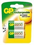 Replacement For GP220CH-LAC2 GP C RECHARGEABLE 2200MAH NIMH BATTERY 2PK Rechargeable Battery 6 PACK