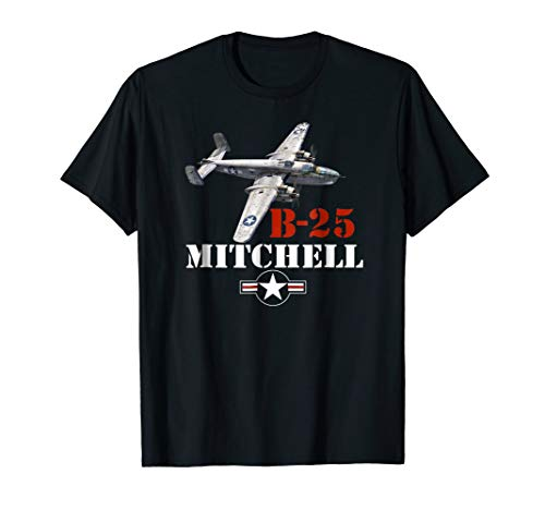 Bomber B-25 Mitchell WWII Vintage T-shirt ()