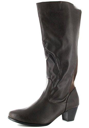 ebe21f89bf1a22 ANDRES MACHADO Damen Stiefel Braun Schuhe in Übergrößen -der ...