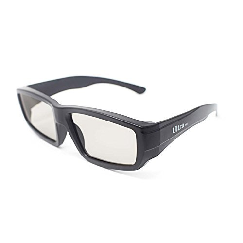 No Projector Theater Lens (5 Pairs of Black Adults Passive 3D Glasses universal in a wraparound style for all Passive TVs Cinema and Projectors such as RealD Toshiba LG Panasonic and more)