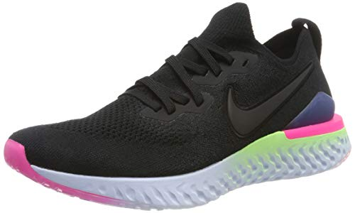 Lime Footwear - Nike Epic React Flyknit 2 Men's Running Shoe Black/Black-Sapphire-Lime Blast 10.0