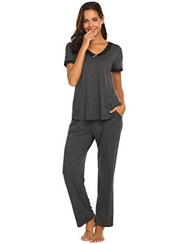 Amiyoi Pj Sets Stright Leg Pj Pants Women Pajamas