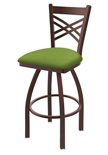820 Catalina 25″ Swivel Counter Stool with Bronze Finish and Canter Kiwi Green Seat For Sale
