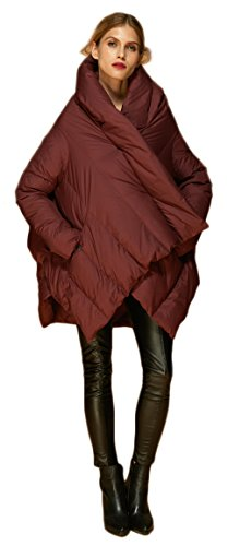 Orolay Women's Puffer Down Coat Cloak-Type Jacket Red - Down Uptown Jacket