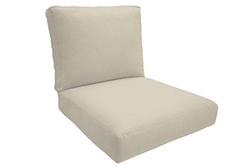 Easy Way Products Knife Edge Sewn Closed Deep Lounge Seating, 26'' L x 5'' W x 30'' H, Fresco Natural by Easy Way Products