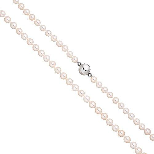 Collier de perles avec fermoir magnétique 6mm Perles d'Akoya blanches de en argent sterling 92545cm