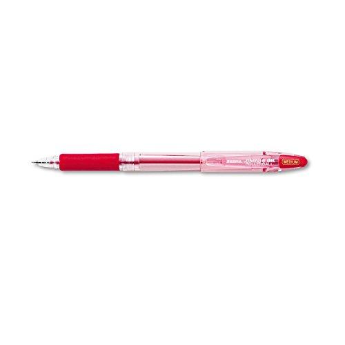 Zebra Jimnie Gel Stick Roller Ball Pen, Red Ink, Medium, 0.70 mm, (Jimnie Gel Pens)