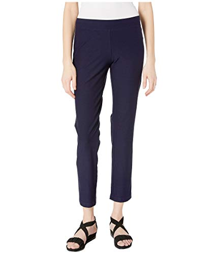 Eileen Fisher Midnight System Washable Stretch Crepe Slim Pant M ()