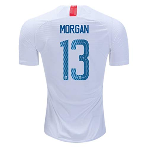 Nike USA 2018-19 Home Youth Soccer Jersey Morgan #13 Youth Size (X-Large)