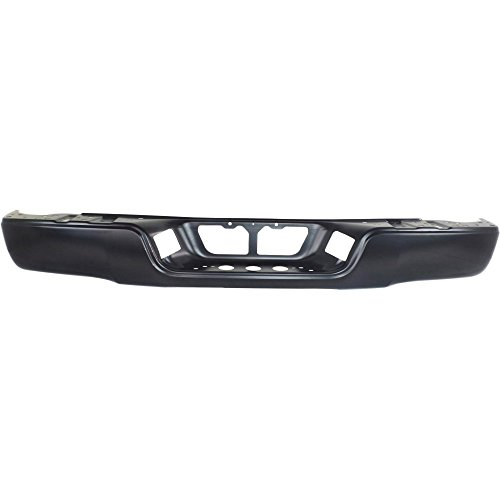 Rear Step Bumper Compatible with Toyota Tundra 2007-2013 Face Bar Only Black Steel Bumper with Rock Warrior Pkg Fleetside ()