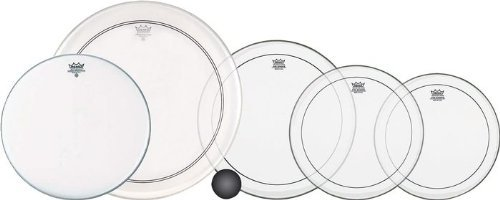 Remo 4-Piece Clear Pinstripe Standard Pro Pack with Free 14 in. Coated Ambassador Snare Drum Head - Remo Standard Drum