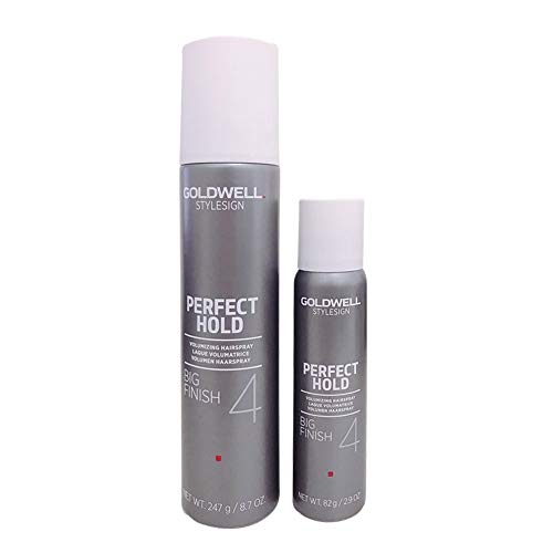 - Goldwell Stylesign Perfect Hold Big Finish 4 Volumizing Hair Spray- 8.7 oz/Travel Sizes 3.4oz