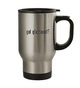 got glasswort? - 14oz Silver Travel Mug
