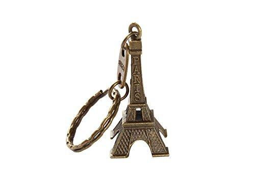 12pcs/lot 3d Eiffel Tower French Souvenir Paris Keychain Cute Adornment Keyring (Bronze)