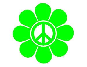 Daisy With Peace Sign PREMIUM Decal 5