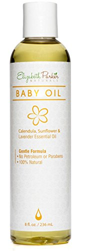 (Natural Baby Oil with Sunflower and Calendula Oil, Petroleum and Paraben Free (8oz))