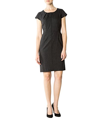 Hechter Damen Daniel Farbe Dress Kleid 36 Größe Schurwollmix Grau Gestreift gqPPBSdx