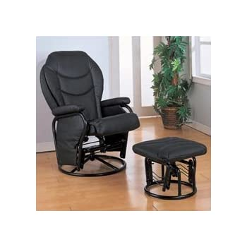 Amazon Com Recliners With Ottomans Glider Rocker With