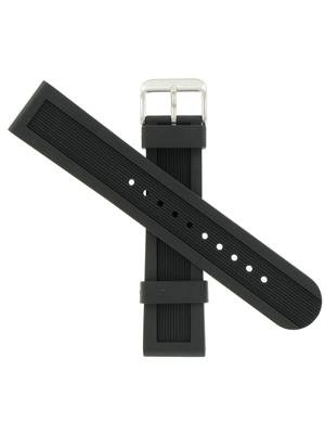 Swiss Army Brand 22mm DM 500 Lg Blk Rub Strap Blk Rub