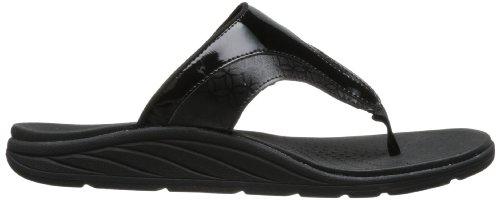 New Balance womens RevitalignRX Thrive Slide Sandal Black