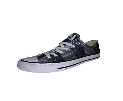 Converse Chuck Taylor All Star Plaid (Converse Mens Chuck Taylor All Star OX Plaid Fashion Sneaker Shoe, Black/White/Black, 11)