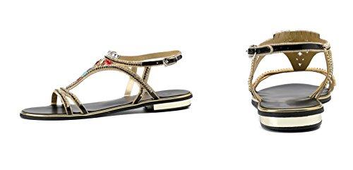 Honeystore Fashion Sandalen Neuheiten Frauen Elastische Böhmen Roman Strass Low Flache Heel Sandalen Sommer Strand Post Flip Flops Flache Schuhe Schwarz