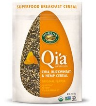(Qi'a™ Superfood - Chia, Buckwheat and Hemp Cereal Original Flavor 7.94 Ounces (Case of 10))