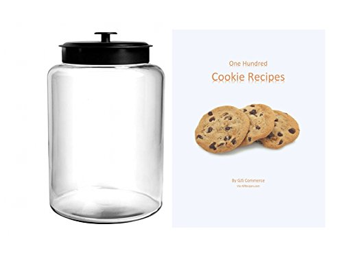 25 Gallon Cookie Jar With Black Metal Airtight Lid Anchor Hocking