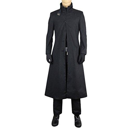 Hei Cosplay Costume (Mtxc Men's DARKER THAN BLACK Cosplay Hei Li Shenshun Costume Size Medium Black)
