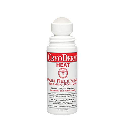 Cryoderm Heat 3 oz Roll-On