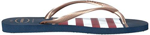 Nautical Femme HavaianasSlim Nautique Sandal Marine Fines Sandales Bleu TUwxRfZ