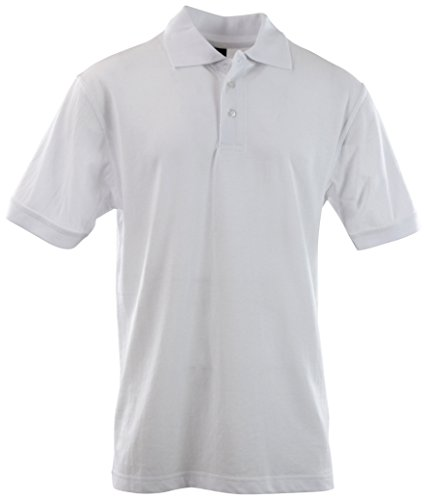 Classic Pique Polo - Mens Classic Cotton Pique Polo Shirts (Many Styles and Colors to Choose from) S up 5XL (5XL, 1001-White)