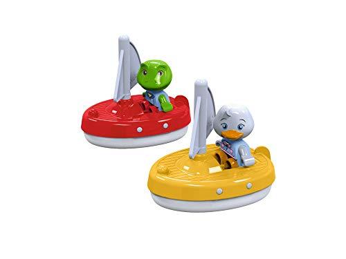 AquaPlay – 2 zeilboten + 2 figuren – accessoires voor AquaPlay waterbanen of voor de badkuip, 2 zeilboten en Nils en…