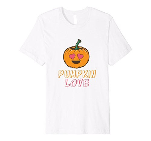 Lady Costume Cute White (Mens Halloween Costume for Women Cute Pumpkin Love T-shirt 3XL)