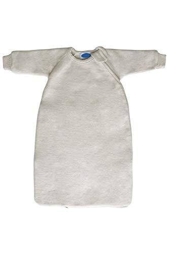 Baby Toddler Winter Sleeping Bag Wearable Blanket with Sleeves, Organic Merino Wool Fleece Sizes NB – 4T (EU116 | 2-4 years, Natural)