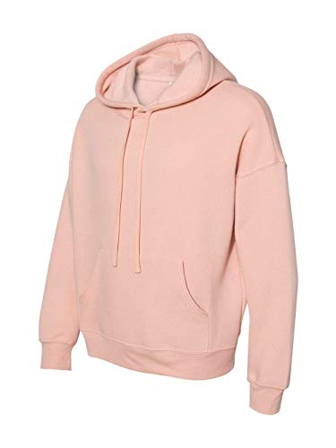 Bella + Canvas Unisex Sponge Fleece Pullover Hoodie M PEACH